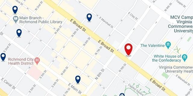 Alojamiento en el Museum District - Clica sobre el mapa para ver todo el alojamiento en esta zona