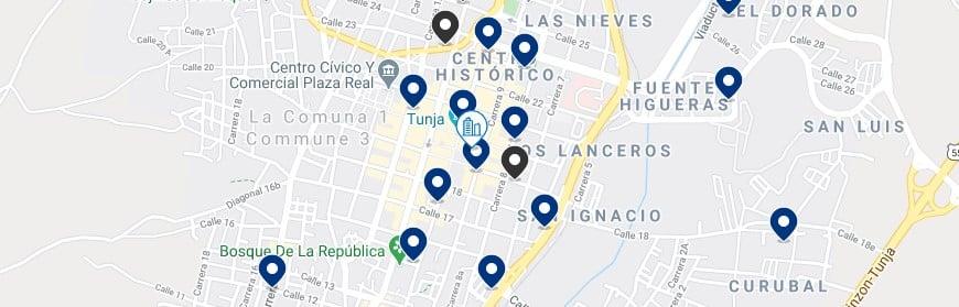 Alojamiento en el Centro histórico de Tunja - Haz clic para ver todos el alojamiento disponible en esta zona