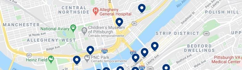 Alojamiento en North Shore Pittsburgh - Haz clic para ver todos el alojamiento disponible en esta zona