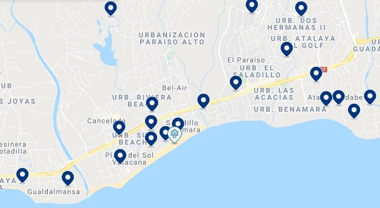 Alojamiento cerca de la playa del Saladillo y los campos de golf de Estepona - Haz clic para ver todo el alojamiento disponible en esta zona