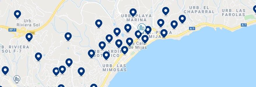 Alojamiento en La Cala de Mijas - Haz clic para ver todo el alojamiento disponible en esta zona