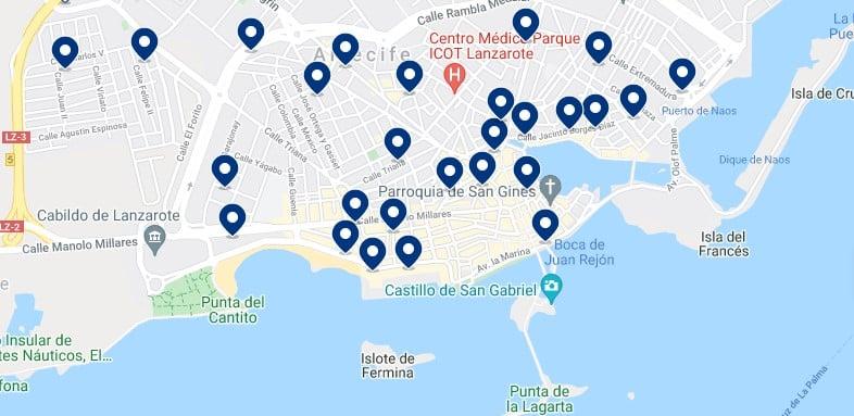 Alojamiento en Arrecife - Haz clic para ver todo el alojamiento disponible en esta zona