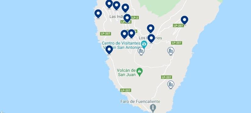 Alojamiento en Fuencaliente de La Palma - Haz clic para ver todo el alojamiento disponible en esta zona