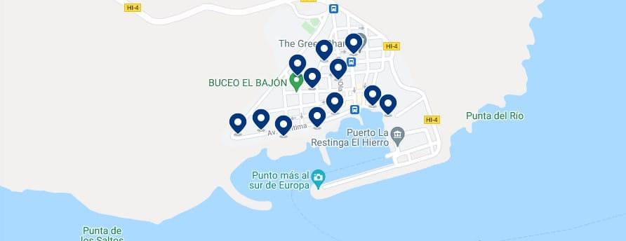 Alojamiento en La Restinga - Haz clic para ver todo el alojamiento disponible en esta zona
