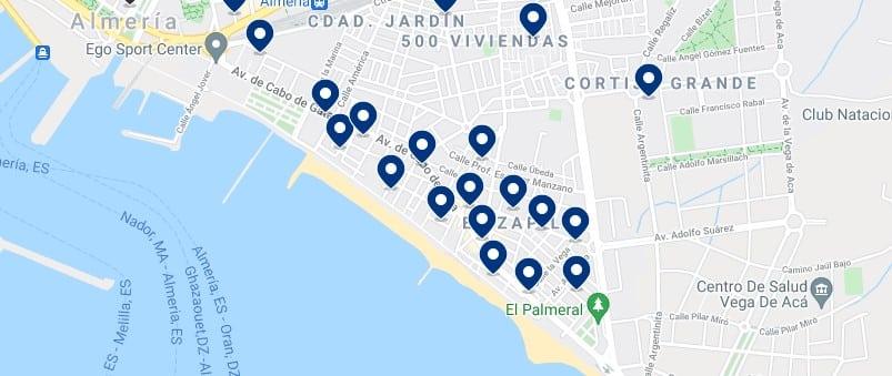 Alojamiento cerca de la playa en Almería capital – Haz clic para ver todo el alojamiento disponible en esta zona