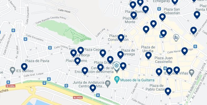Alojamiento en el Centro Histórico de Almería – Haz clic para ver todo el alojamiento disponible en esta zona