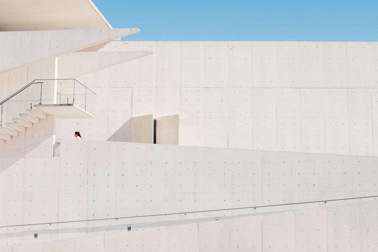 building, architecture, woman