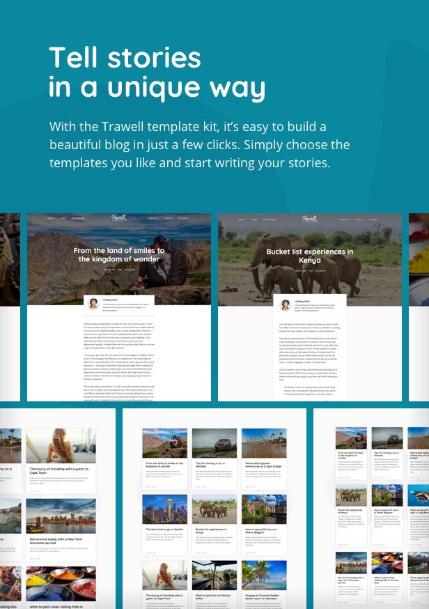 Trawell - Travel Blog Elementor Template Kit