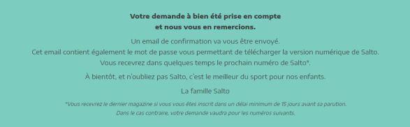 SALTO : Magazine Sportif offert