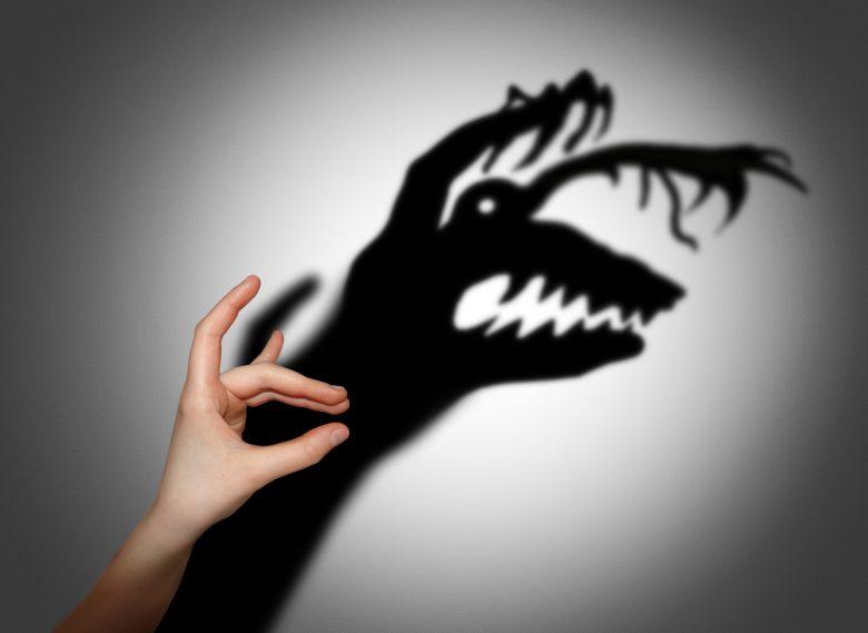 Fear, fright, shadow on the wall @ cranach2