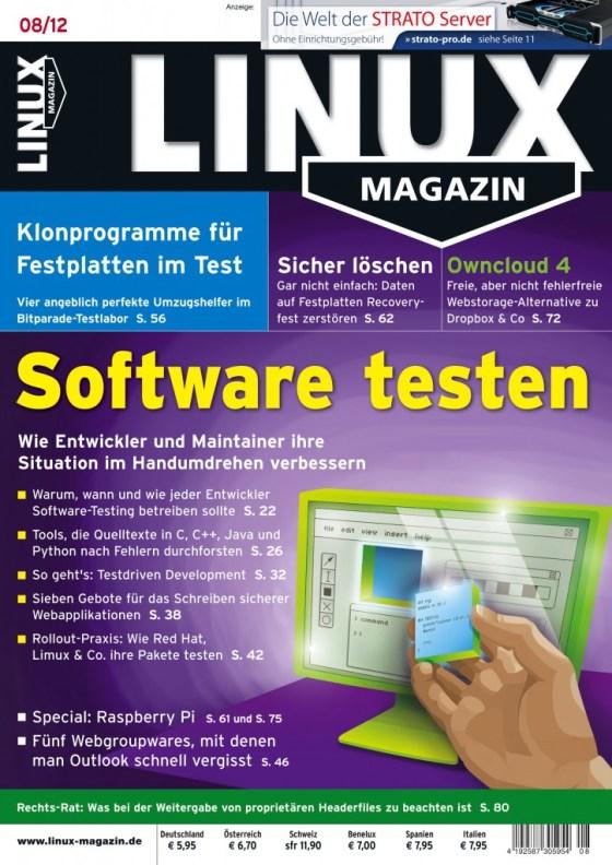 Linux Magazin Ausgabe August 2012