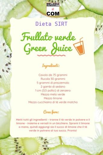 Come preparare un frullato verde della dieta SIRT
