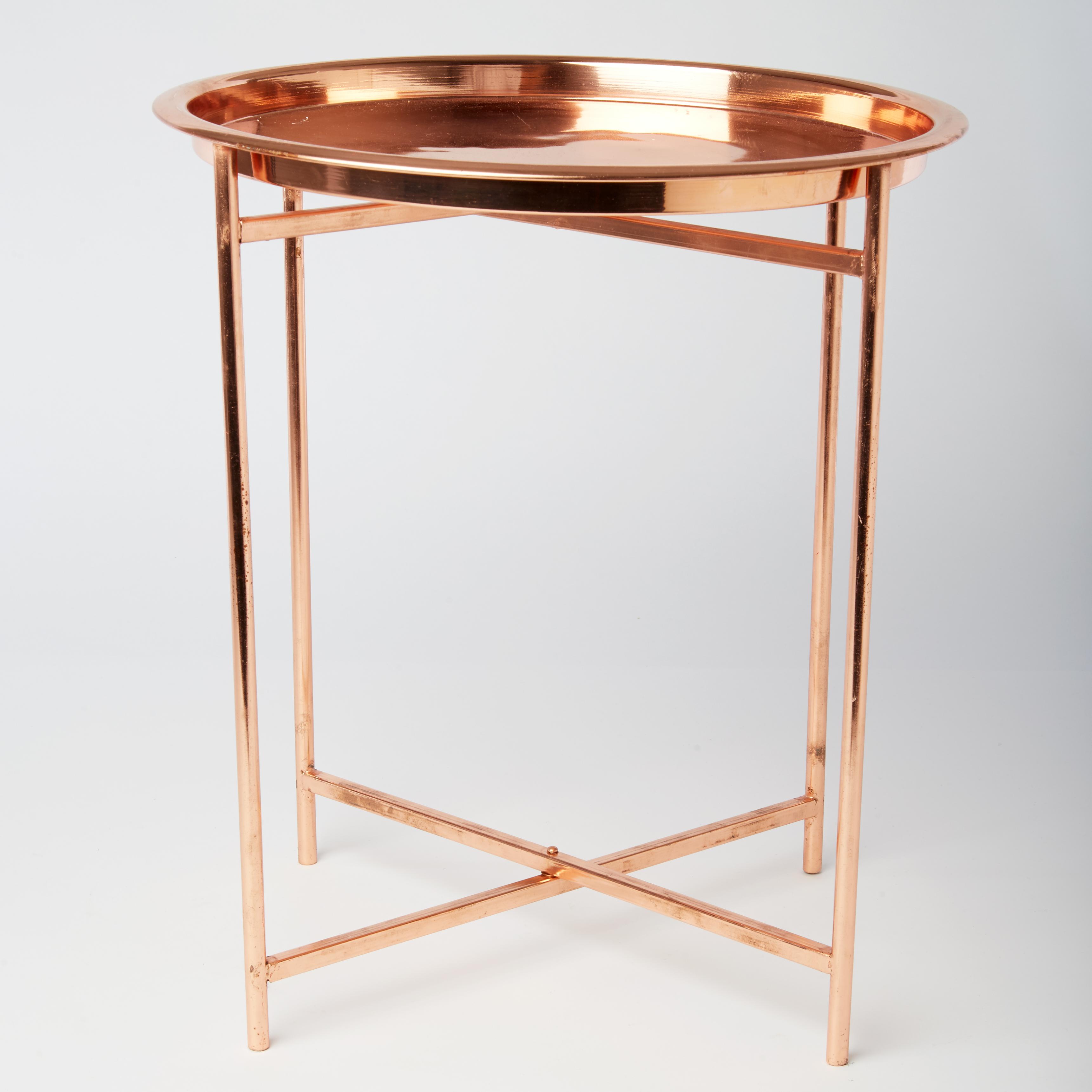 copper folding coffee table melanie falvey