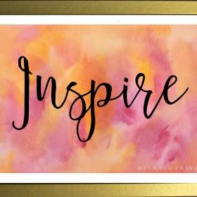 Inspire framed print_melaniefalvey.com