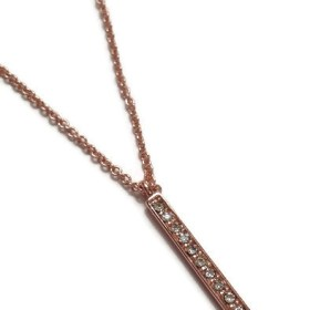 Rose gold long bar necklace_chicjewelcouturebymelaniefalvey_1