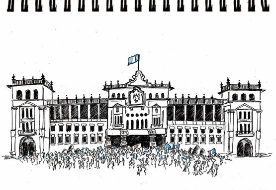 Guatemala 2015 - Manifestations devant le Palais National