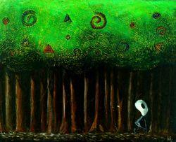Arthur dans la forêt - Pastel gras