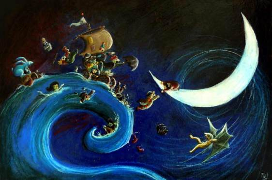 Voyage nocturne - Pastel gras