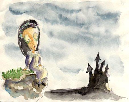 La Petite Tristesse devant le château