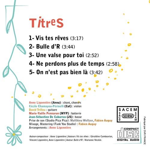 Pochette de CD (verso)