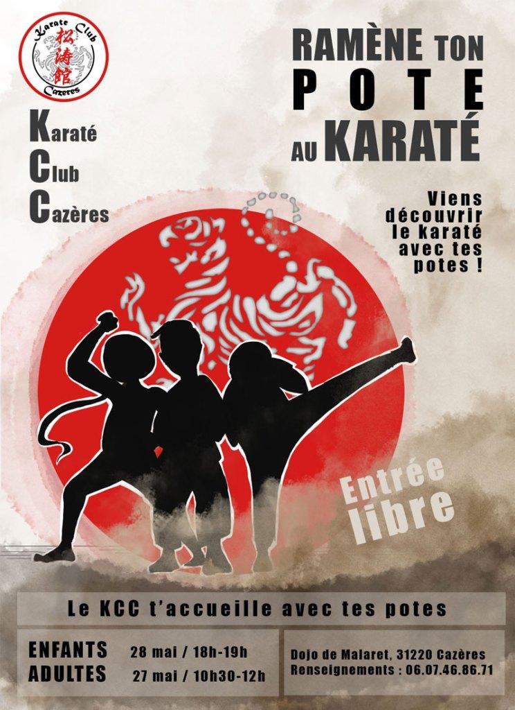 Affiche pour événement club de karaté