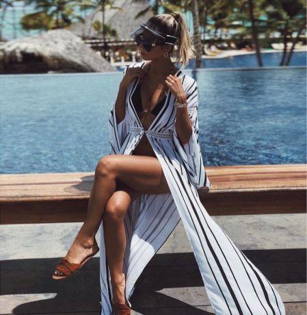 A saída de praia longa é desejo entre muitas mulheres, pois proporciona um look prático e elegante para o verão. Inspire-se com 60 modelos maravilhosos.