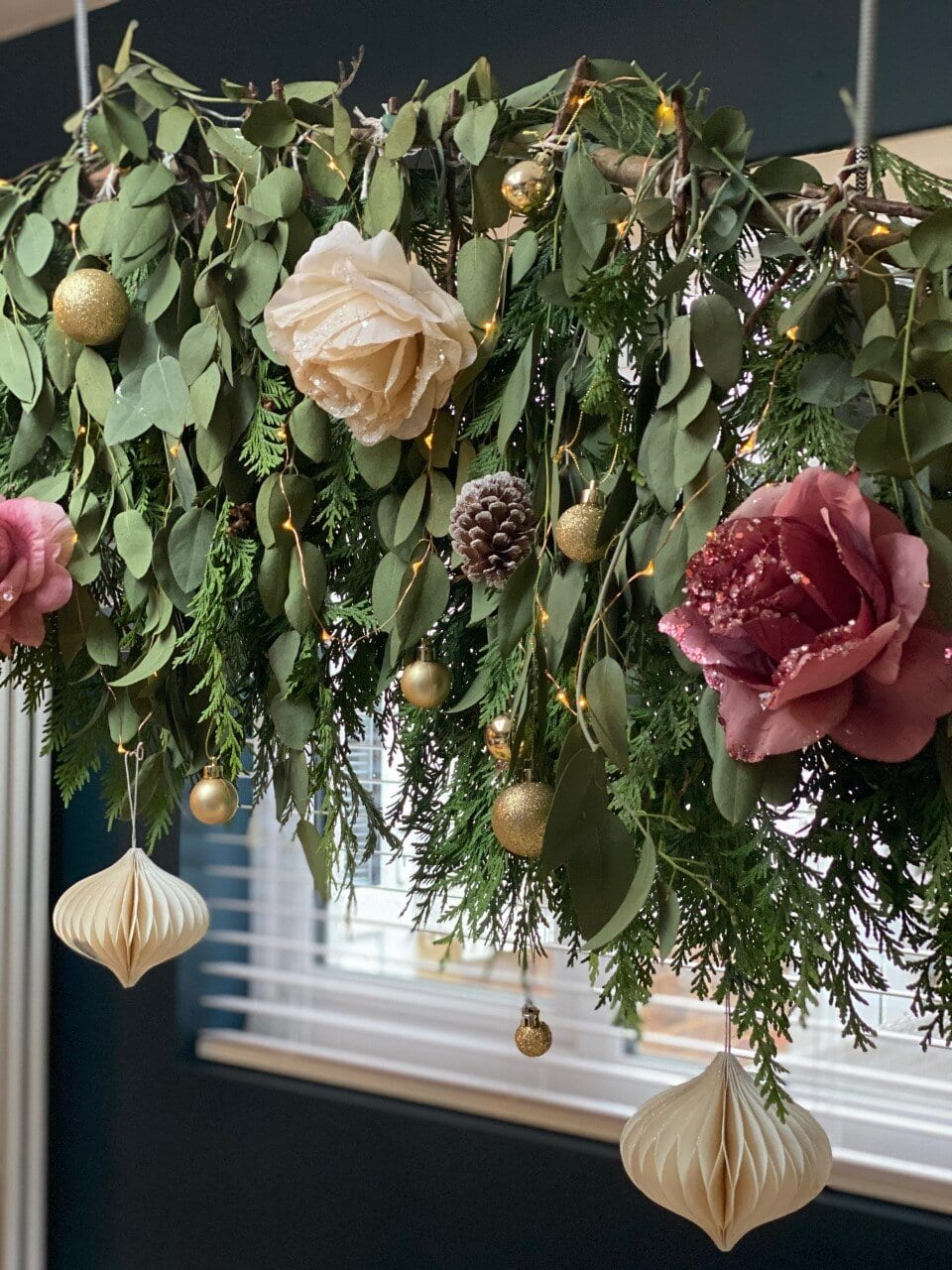 Cream Paper baubles from HM Home