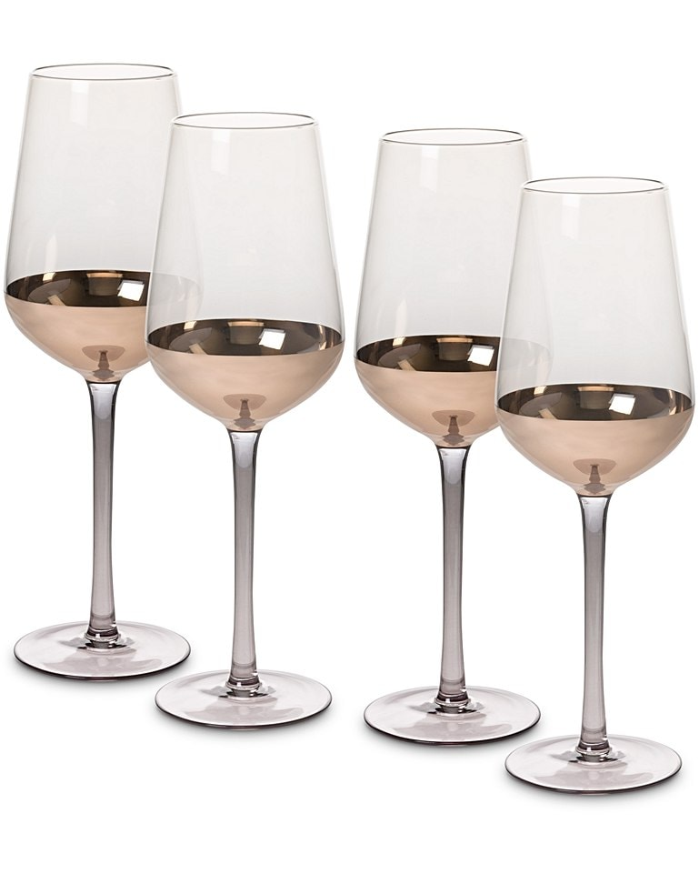 Gold foil wine glasses -  Oliver Bonas