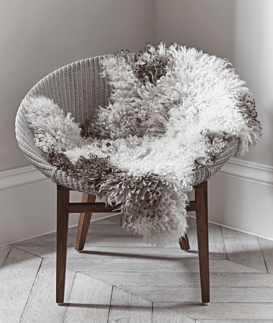 Natural Curly Sheepskin from Cox and Cox