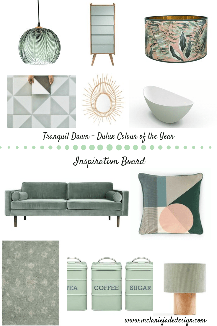 Tranquil Dawn Inspiration Board - see below for links to products