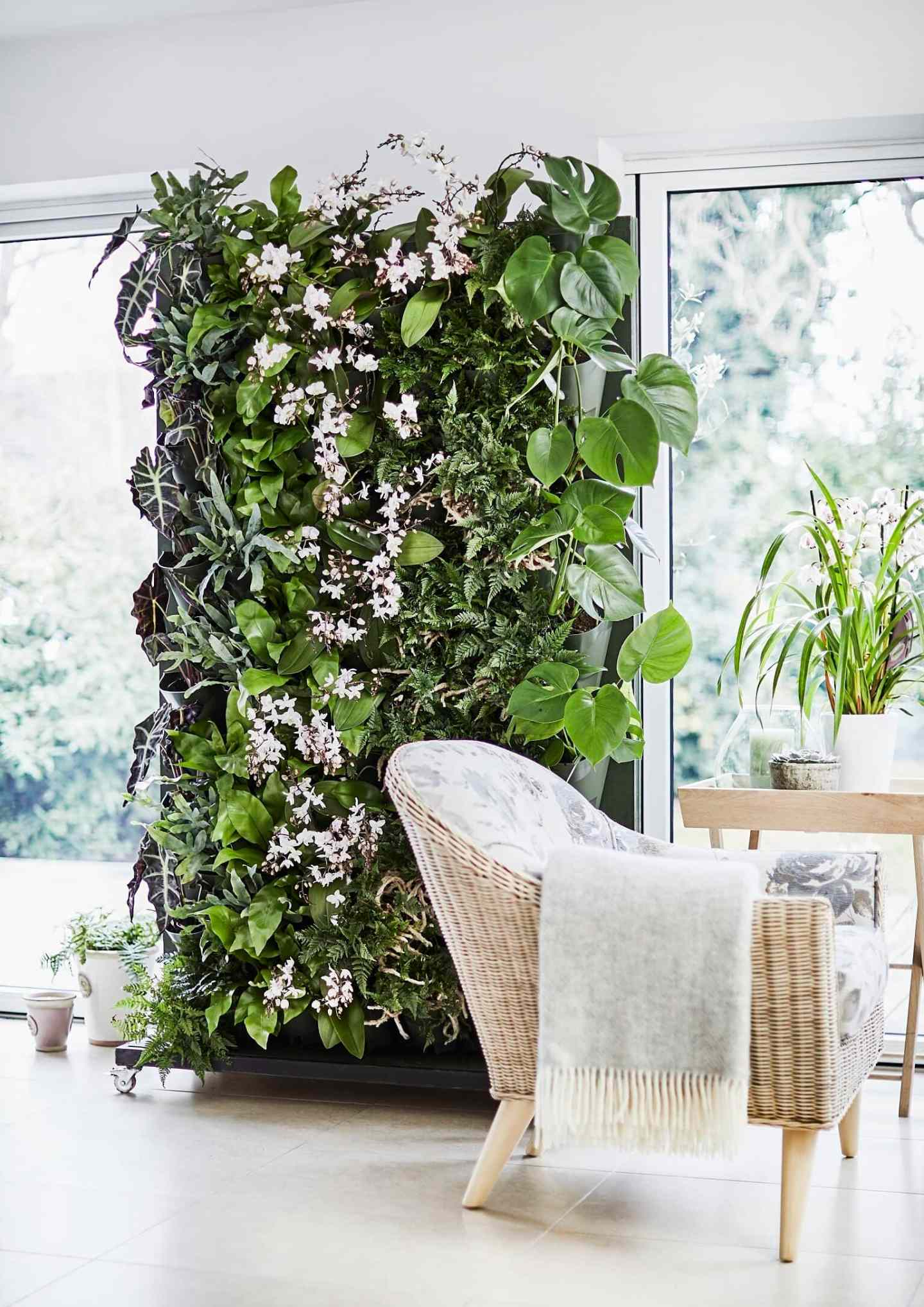 interior, interiors, interior design, interior design trends, trends, 2020, 2020 trends, rattan, faces, jewel tones, ribbed furniture, design, colours, colors, colour trends, living wall, houseplant