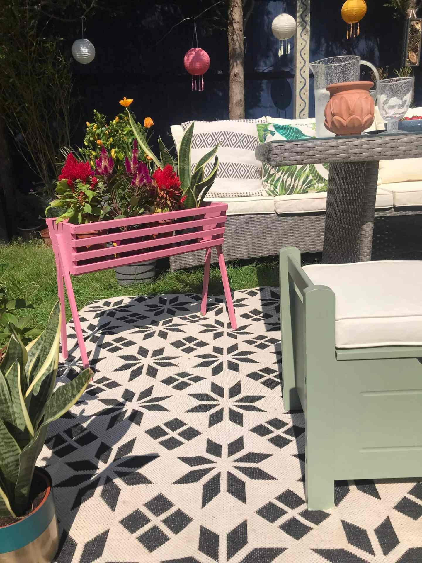 Adding a splash of pink to the garden with  Cuprinol's  Pink Honeysuckle
