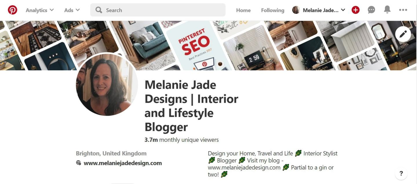 A little snapshot of my  Pinterest  home page