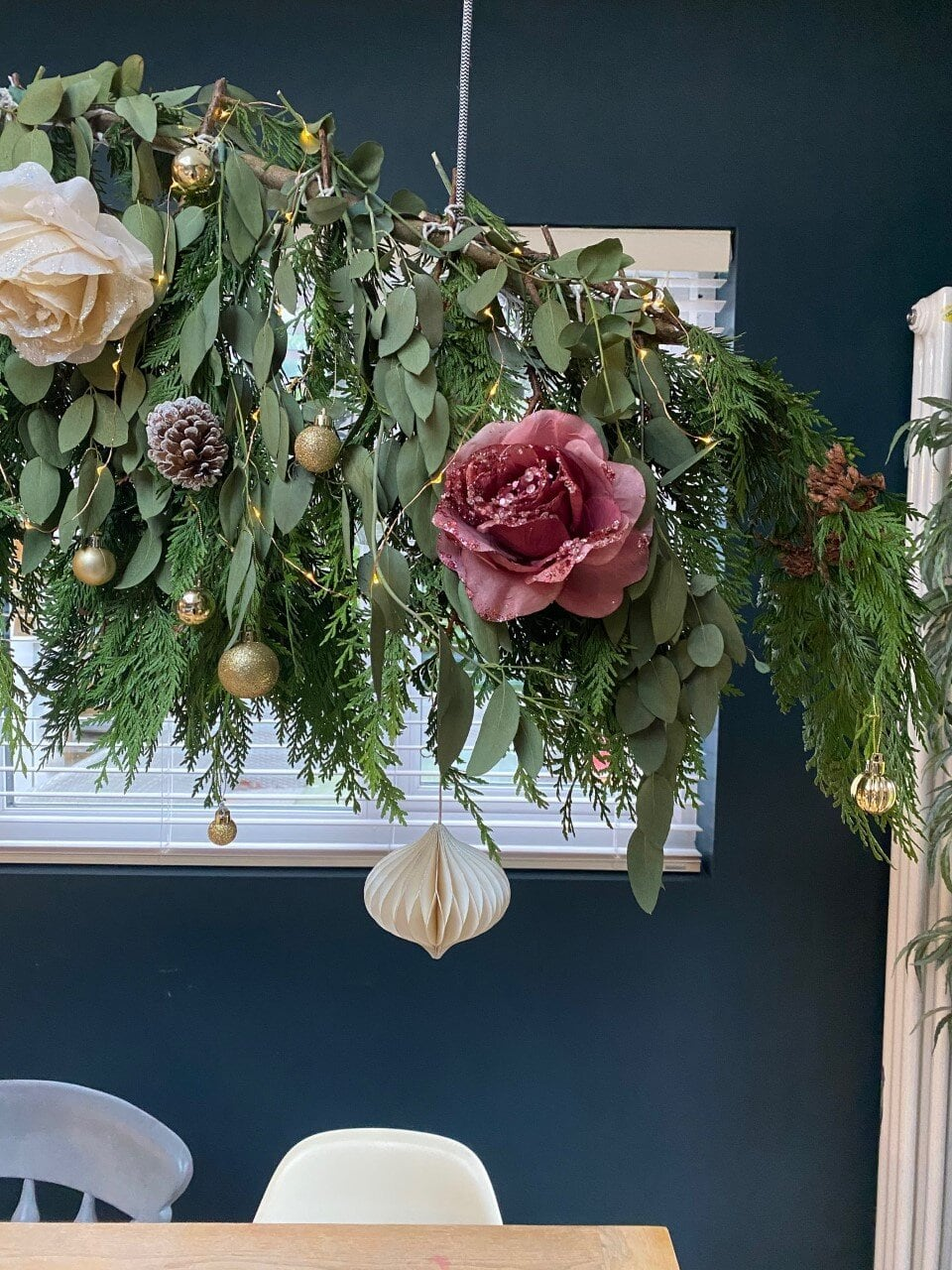 The beautiful floral decorations from ChristmasTimeUK