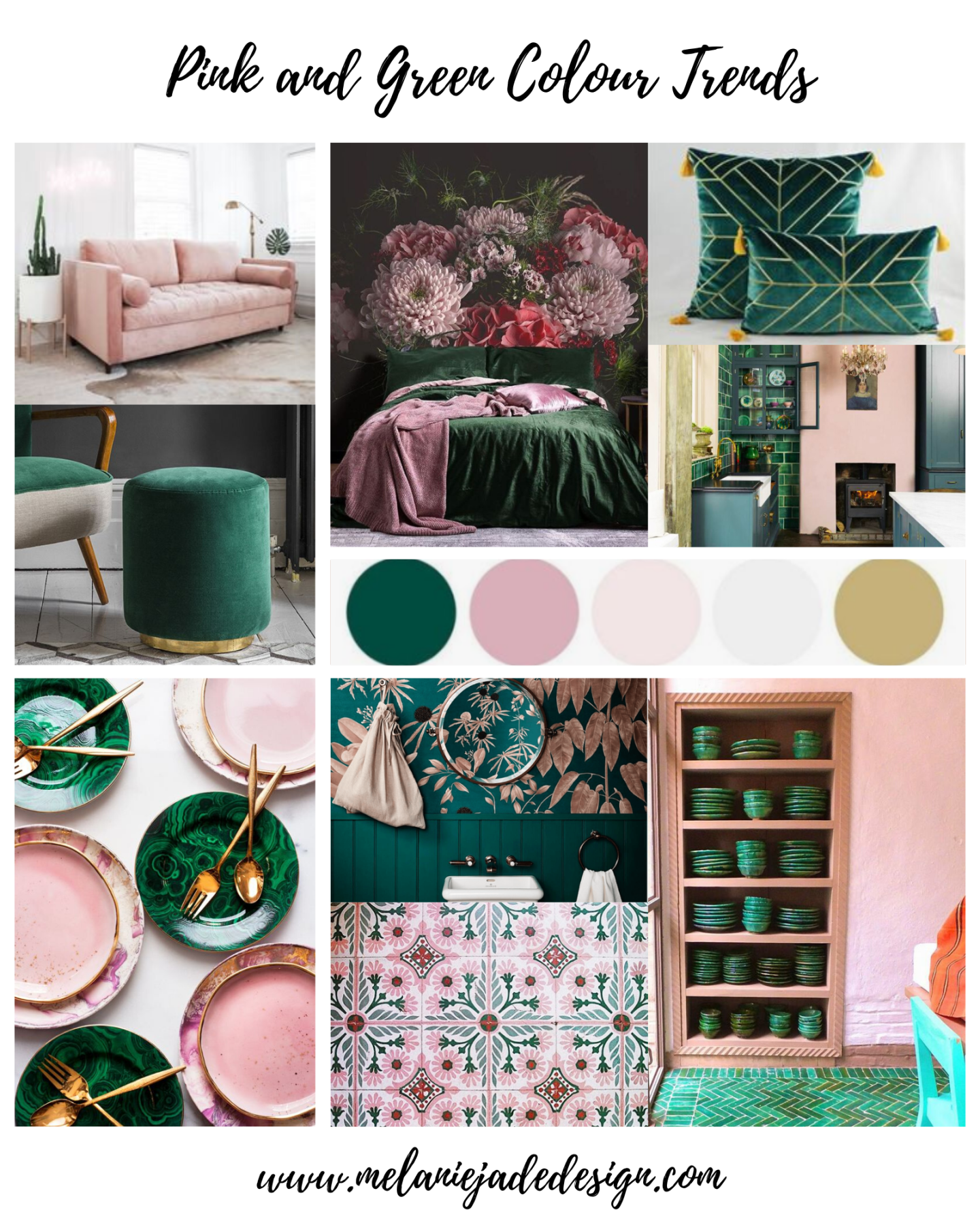 Colour Trends Pink And Green Should Always Be Seen Melanie Jade Design