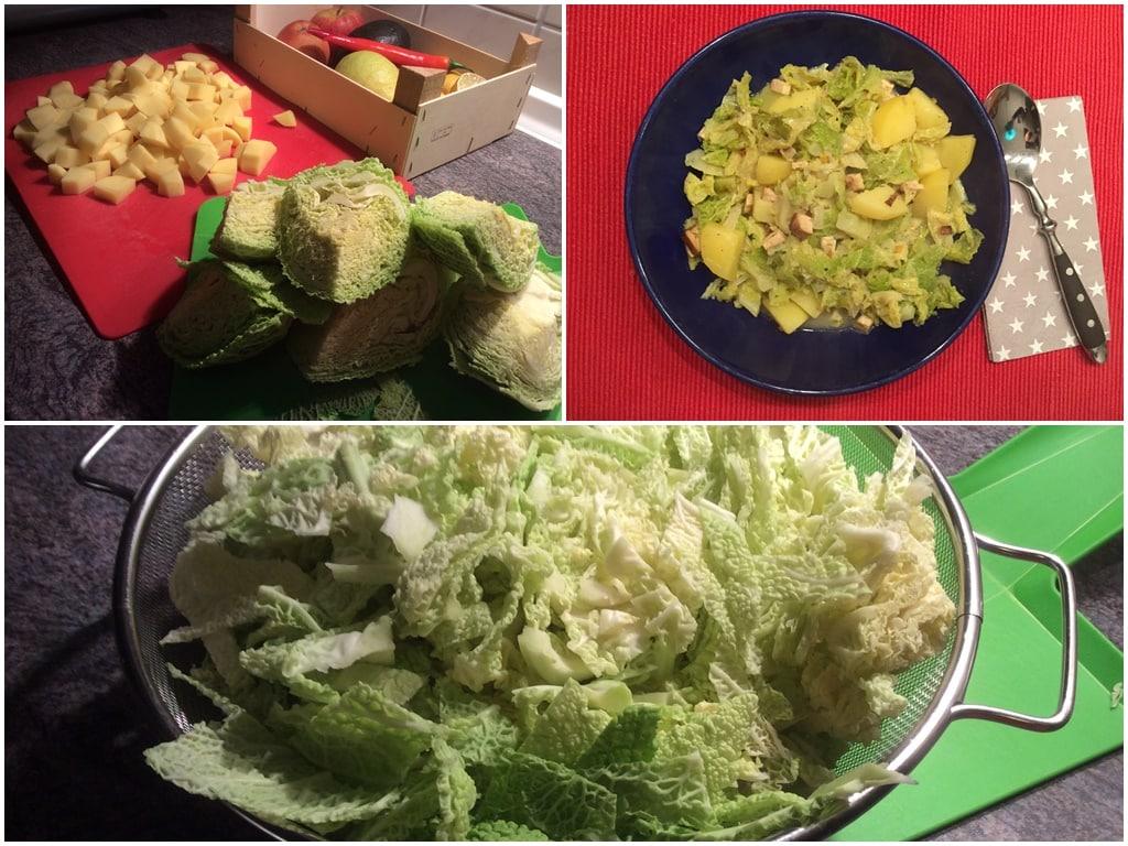 Wirsing-Kartoffel-Untereinander