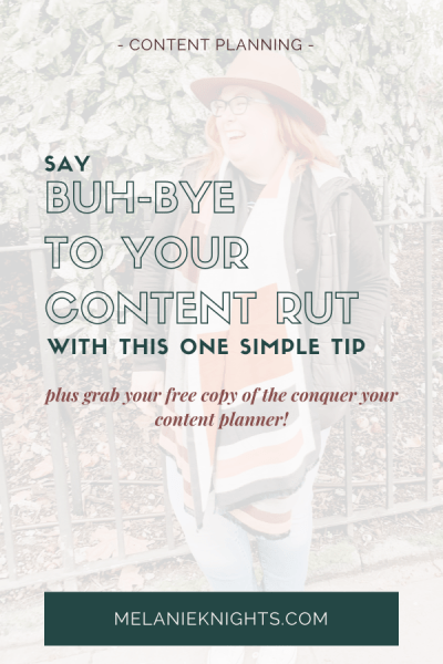 portrait image of Melanie Knights with white faded overlay and text describing blog post