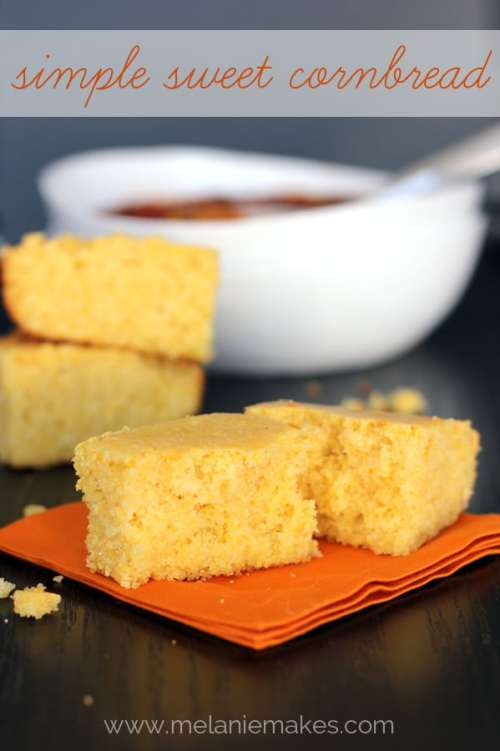 Simple Sweet Cornbread | Melanie Makes melaniemakes.com
