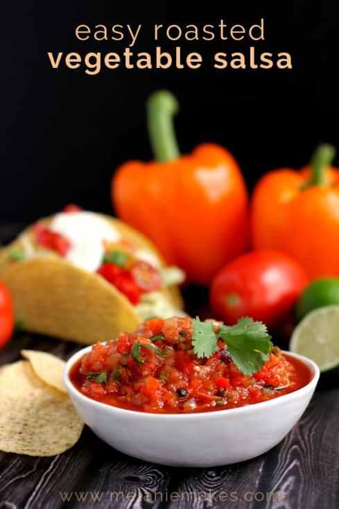 Easy Roasted Vegetable Salsa | Melanie Makes melaniemakes.com