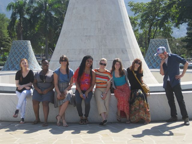 """Our fearless students at the Mupanah Museum du Pantheon National d""""Haiti"""