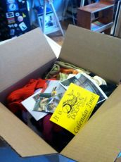 Here's my box of scraps from Crispina's Studio