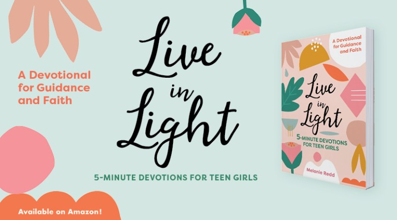 """Live In Light is every girl's guide to tackling their teenage years with the wisdom and comfort of the Bible. From navigating the pressure to be """"perfect"""" on social media to dating and dealing with frenemies, these 5-minute devotionals help you to become the woman that both you and God want you to be. #teengirls #teendevotions #liveinlight #lighttheway"""