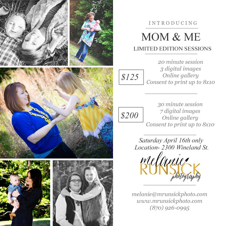 melanie runsick photography Jonesboro Arkansas Photographer Mom and Me Limited Edition Sessions Arkansas Photographer