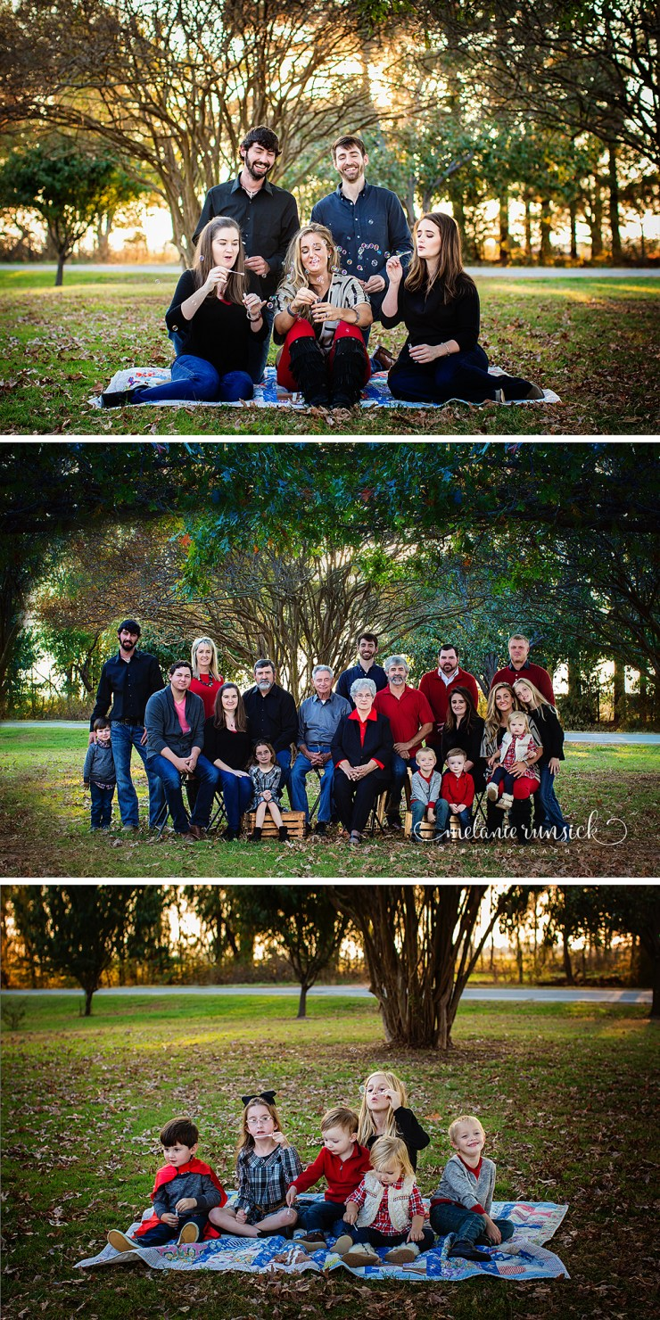 Melanie Runsick Photography Newport Arkansas Photographer Large Family Session