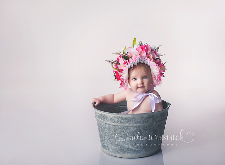 Melanie Runsick Photography Sitter Session Jonesboro Arkansas Flower Bonnet