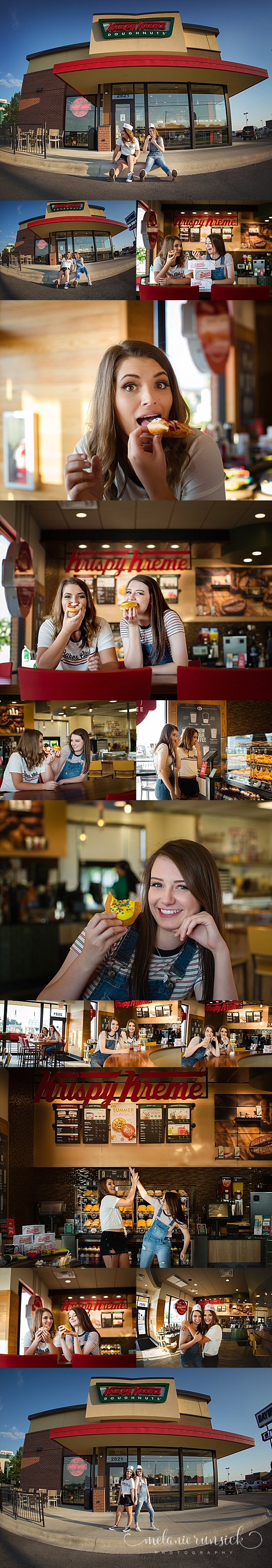 Krispy Kreme Jonesboro AR Melanie Runsick Photography Best Friend Senior Session Senior Portrait Photographer