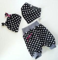 Mel.Anni's handmade Pumphose mit Halstuch und Öhrchenmütze