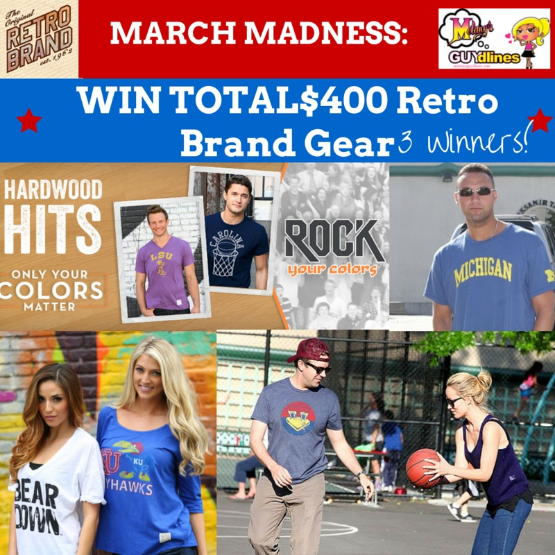 March Madness Retro Brand Gear $400 Giveaway: 3 Winners