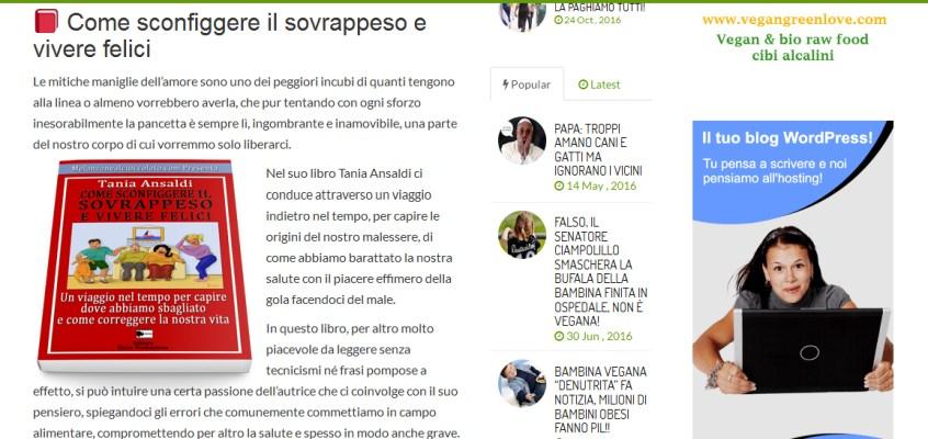 COME SCONFIGGERE IL SOVRAPPESO SU VIVIVEGAN.COM