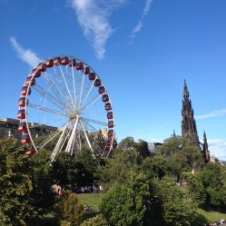 Big wheel and Scot Monument